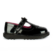 Infants Kickers Kick Star Black Patent Sandals