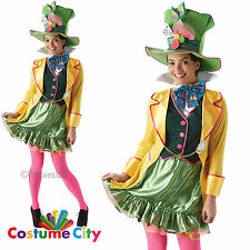 Adults Womens Official Mad Hatter Alice in Wonderland Fancy Dress Party Costume