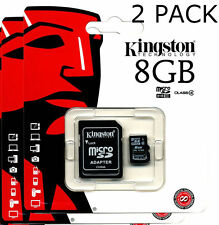 KINGSTON 8GB MICRO SD SDHC CLASS4 FLASH MEMORY CARD FREE POST 1/2