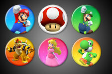 Super Mario Brother Magnets Set Collection Mario Luigi Peach Bowser Yoshi Mush