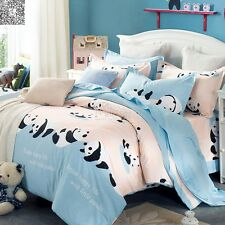 New Panda 100% Cotton Quilt Duvet Doona Cover Set Queen/King Bed Size Pillowcaes