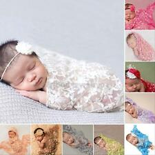 Newborn Baby Girl  Lace Cocoon Wrap Blanket  Costume Photography Photo Prop NEW