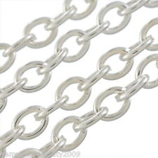 Wholesale DIY Jewelry Silver Plated Links-Opened Cable Chains 2x3mm