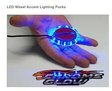 BMW LED MOTORCYCLE WHEEL ACCENT LIGHTS LIGHTING PUCKS CHROME GLOW
