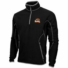Mens Oregon State Beavers Antigua Black Ice Quarter-Zip Fleece Jacket - College
