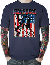 Patriotic American Flag T Shirt Freedom Statue Liberty Big & Tall Free Shipping