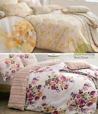 Floral Percale Quilt Duvet Cover & Pillowcase Bedding Bed Sets 180 TC Striped