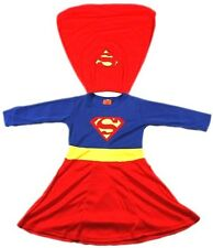 NEW Size 1~12 KIDS DRESS UP COSTUME SUPERHERO PARTY OUTFIT TOP GIRLS SUPERGIRL