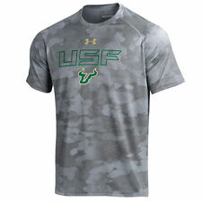 South Florida Bulls Under Armour Tech Camo Performance T-Shirt - Steel - College