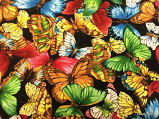 Butterfly Fabric Packed Butterflies Cotton Fabric By Yard or Half Yard BTY t3/15