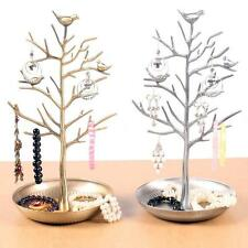 Bird Tree Jewelry Earrings Ring Stand Holder Show Rack Necklace Display HG T7X7
