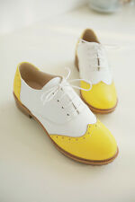 2016 WOmens Girls Flat Oxfords Boat Casual Shoes Pumps Wing Sweet Tip PLus Size