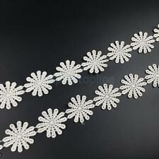 3Yard Delicate Embroidered Floral Sewing Applique Lace Trim Ribbon DIY Craft