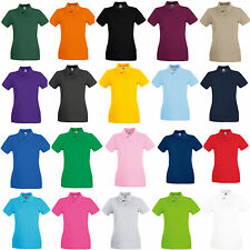 FRUIT OF THE LOOM 100% COTTON LADIES PREMIUM POLO GOLF SHIRT - SS89