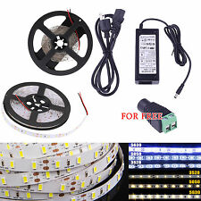 5M 3014/5050/3528/5630SMD 300/600 LEDs RGB Cool Warm White Flexible Strip Light