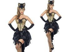 Adult Burlesque Kitty Costume Sexy Can Can Moulin Ladies Fancy Dress Outfit