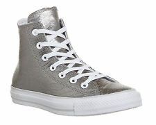 Converse All Star Hi Leather SILVER CROC EXCLUSIVE Trainers Shoes