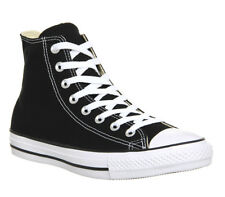 Mens Converse All Star Hi BLACK CANVAS Trainers Shoes
