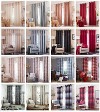 Designer Eyelet Curtain Pairs, Exclusive Fully Lined Ring Top Curtains Range