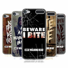 OFFICIAL AMC THE WALKING DEAD TYPOGRAPHY SOFT GEL CASE FOR APPLE iPOD TOUCH MP3