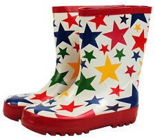 NEW Colourful Stars Design Kids Childrens Wellies Gumboots  Size 5/6 11/12 Last