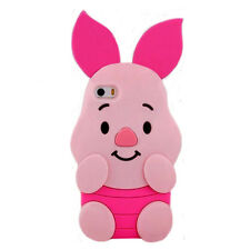 Cartoon animals rose pig winnie bear soft silicone soft silicone case For Iphone