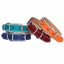 Pup Planet Premium Leather Dog Collar Adjustable Handmade in USA Over 30 Colors