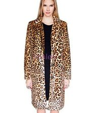 Womens Faux Fur Luxury Leopard Sexy Warm Outwear Jackets Parka Vogue Coats Comfy