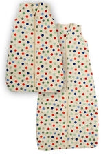 Baby Travel Sleeping Bag Bubble Dot 2.5 Tog Size 0-6, 6-18, 12-36 months