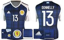 *2016 - ADIDAS ; SCOTLAND HOME SHIRT SS / DONNELLY 13 = KIDS SIZE*