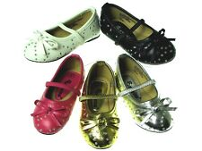 New Baby Girls Studded Rhinestone Ballerina Slip-On Flats Princess Dress Shoes