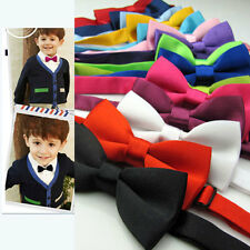 Baby Boy Kids Infant Solid Color Wedding Tuxedo Bowties Bow Tie Neckwear Luxury