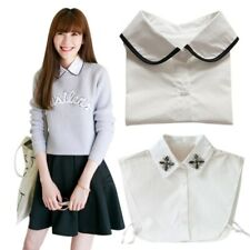 Women's Men's Peter Pan Detachable Lapel Shirt Fake False Collar Choker Necklace