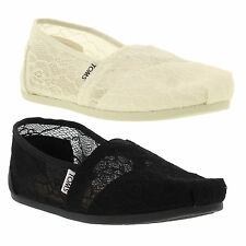 Toms Womens Classic Lace Slip On Espadrille Shoes