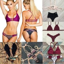 Sexy Padded Bikini Thong Bandage Push Up Brazilian Beach Swimwear Bathing Suit