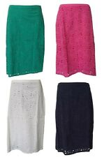 BN LADIES BODEN COTTON BRODERIE ANGLAIS LINED SKIRT GREEN WHITE NAVY PINK S 6~18