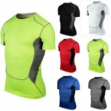 Mens Sports Bodybuilding Fitness Gym T-Shirt Tee Top Jersey Cycling Casual Shirt