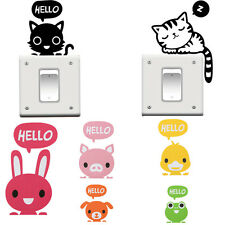 2Pcs Vinyl Animal Cartoon Switch Stickers Removable Home Decor Wall Decals