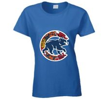 Chicago Cubs T-Shirt Womens Fitted Chicago Teams Bulls Bears Blackhawks Tee