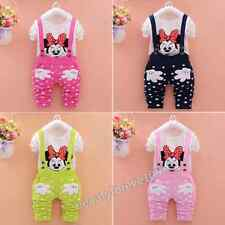 Baby Kids Girls Minnie Mouse cartoon Long sleeve 2 pieces Suit clothes  6M-5T