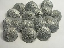 New Lots Silver Military Metal Buttons Royal Crest 11/16, 13/16, 7/8 inch (S28)