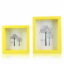 """4""""x4"""" 4""""x6"""" Yellow Wooden Namu Photo Frame Hanging Wall Decoration Table Home"""