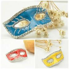 Rhinestone Crystal Mask brooch Collar Pin bridal Halloween wedding Bridal DIY
