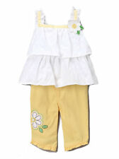 Young Hearts Baby Girls Outfit Set 2 Piece Yellow Size 3-6 6-9 Months New Tags