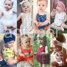 Newborn Toddler Baby Girls Summer Romper Jumpsuit Bodysuit Infant Clothes Outfit
