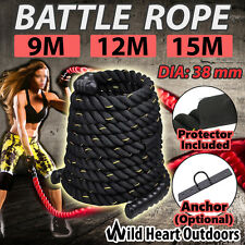 Battle Rope 38mm Strength Training Battling Home Gym Exercise Fitness Anchor