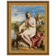 Design Toscano Bathers Surprised, 1853 by William Mulready Framed Painting Print