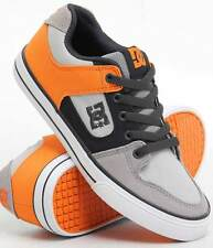 KIDS DC SHOES YOUTH PURE CANVAS GO6 GREY ORANGE child boys skate bmx trainers