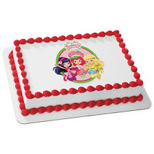 Strawberry Shortcake Edible Cake OR Cupcake Toppers Decoration