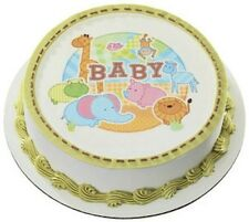 Baby Jungle Safari Animals Edible Cake OR Cupcake Toppers Decoration by DecoPac